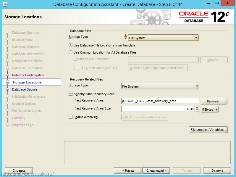 saving file in oracle database